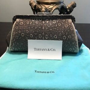 Tiffany & Company natural lizard skin clutch